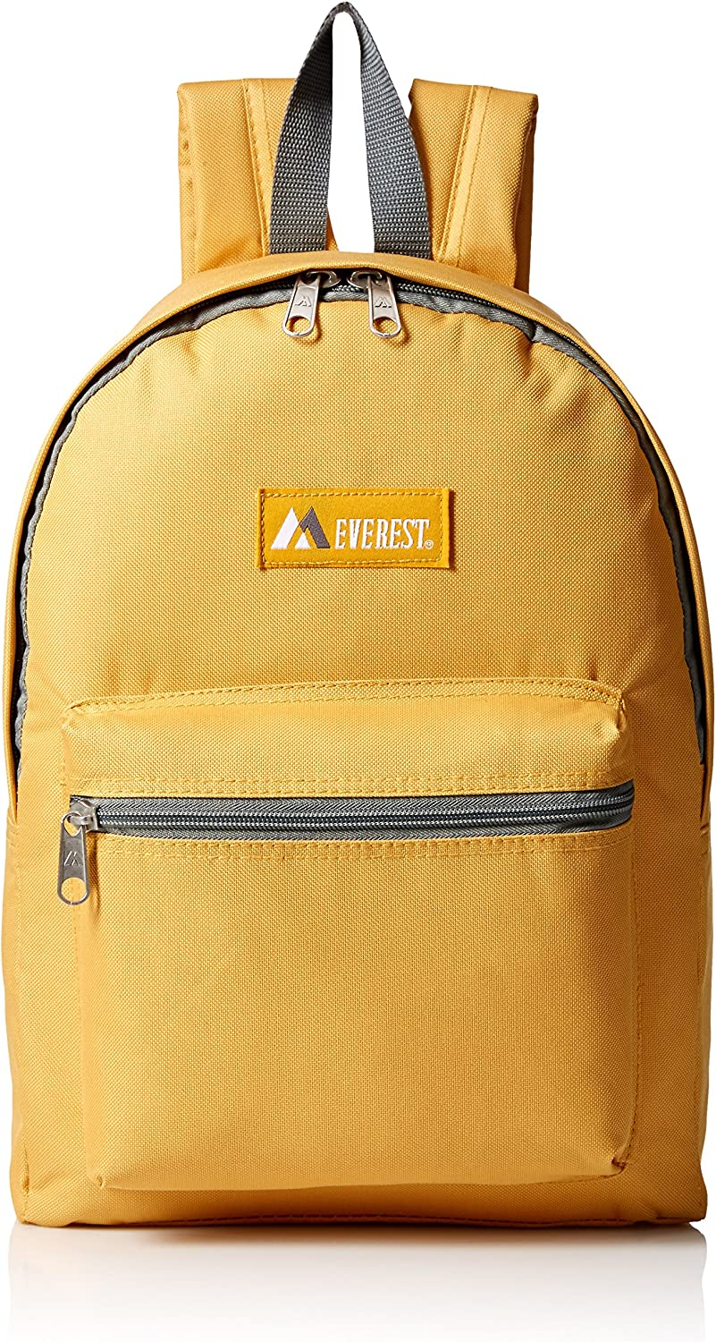 Everest Basic Backpack, Yellow, One Size