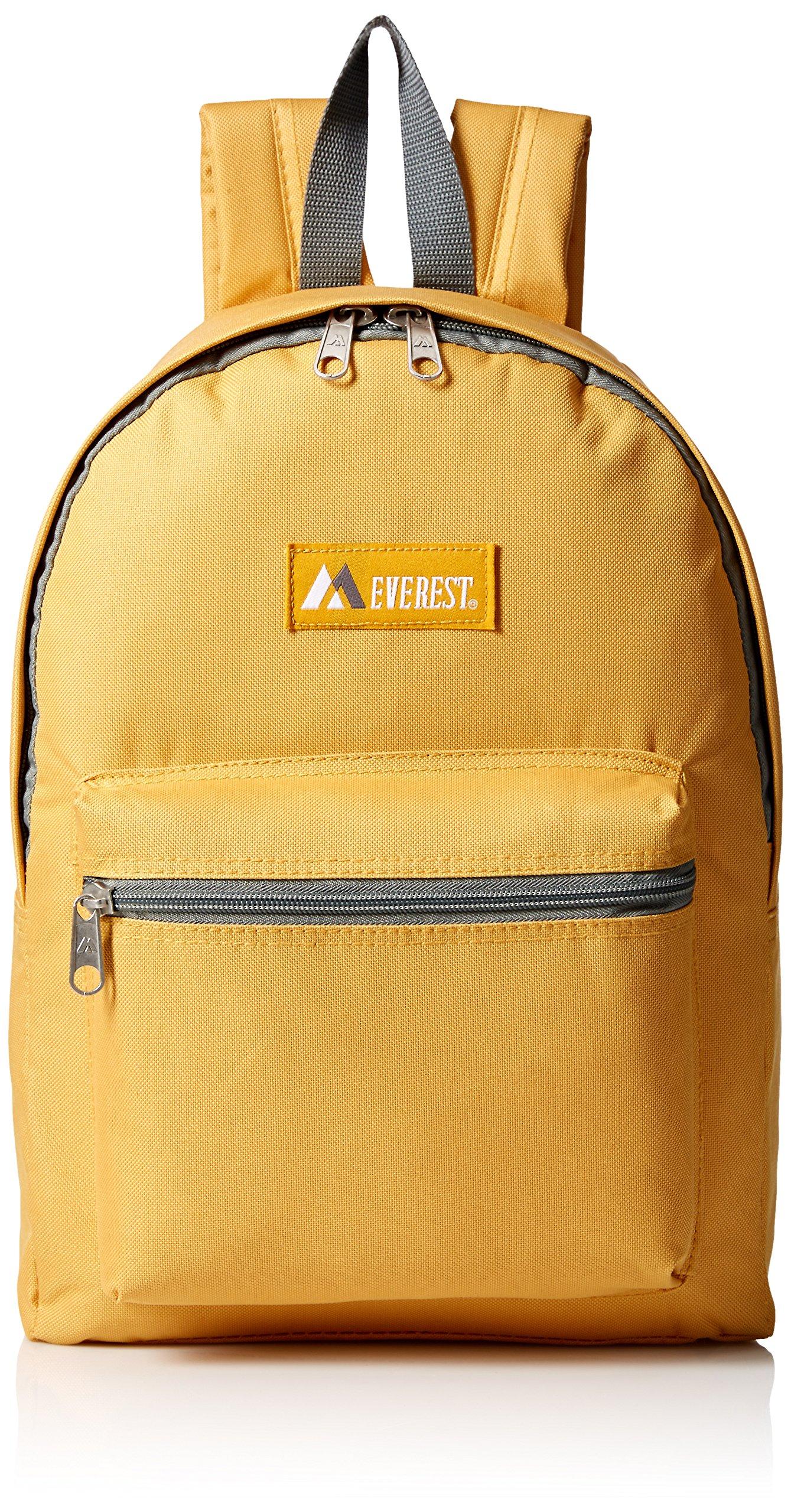 Everest Basic Backpack, Yellow, One Size