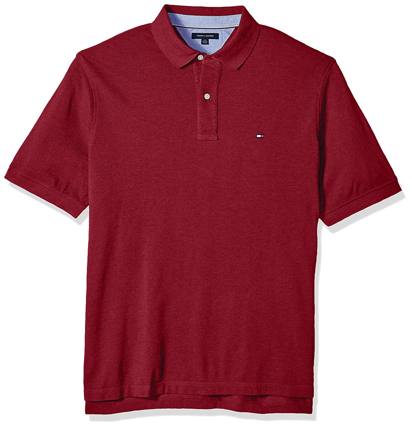 c98f1342 Tommy Hilfiger big and tall polo shirt for men in our best-selling fit. Two  button placket. Tommy Hilfiger flag embroidery at chest. Soft feel