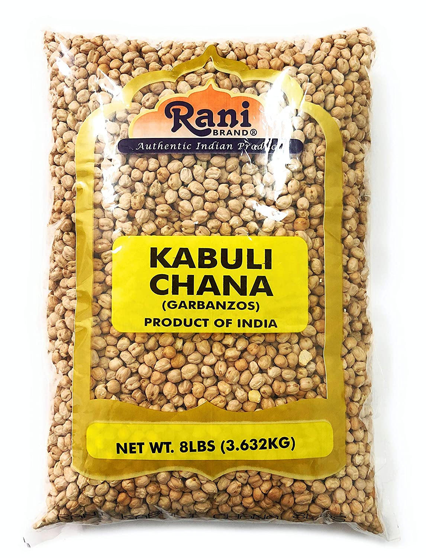 Rani Garbanzo Beans (Kabuli Chana) 8lbs (128oz) Bulk ~ All Natural | Vegan | Gluten Free Ingredients | NON-GMO | Indian Origin