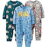 Simple Joys by Carter's Baby and bebé - Conjunto de 3 Pijama de Forro Polar para niños