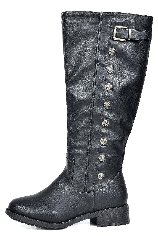 765eadaa7b8f6 Amazon.com | DREAM PAIRS Women's Knee High Riding Boots (Wide-Calf ...