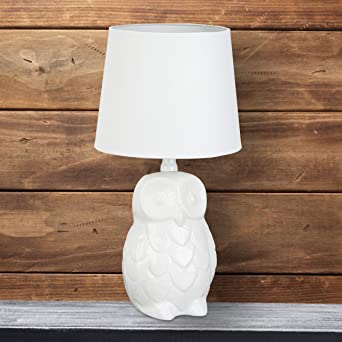 Chevet Hibou Relaxdays Céramique Table Lampe De Chouette vmNw8n0O