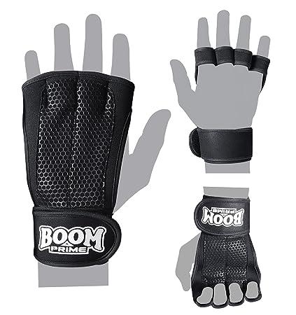 BOOM Pro guantes de entrenamiento con muñequera – Crossfit mano y palma de la mano protectores