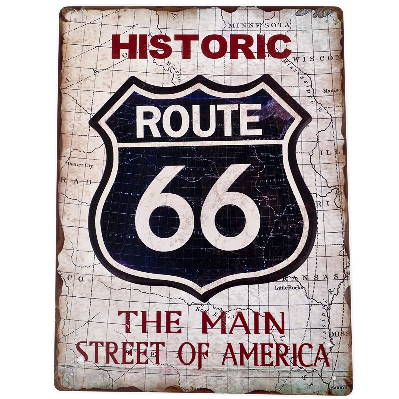 Dadeldo Living & Lifestyle Cartel de Chapa Route 66 Diseño ...