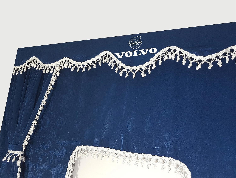 Juego de 5/piezas rojo cortinas con borlas de color blanco Universal tama/ño todos los modelos de cami/ón cabina accesorios decoraci/ón tejido de felpa