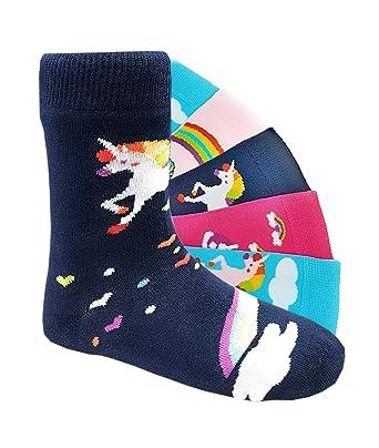 2be47688e8 Laake Kinder Socken Kids handgekettelt Spitze ohne Naht 6 Paar für Mädchen  oder Jungen weiche Baumwolle bunter Mix Gr. 19-42 Socken: Amazon.de:  Bekleidung