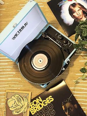 Victrola Vintage 3-Speed Bluetooth Suitcase Turntable with Speakers, Turquoise