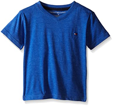 6dd3984fd Amazon.com: Tommy Hilfiger Boys' Toddler Core V-Neck Tee: Clothing