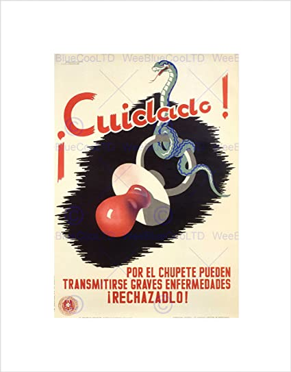 Amazon.com: Baby Disease Health Care Pacifier Spain Vintage ...