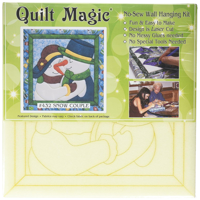 Amazon.com: Quilt Magic Snow Couple Quilt Magic Kit, 12-Inch x 12-Inch