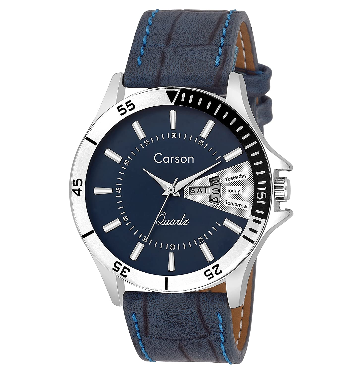 Carson Analogue Blue Dial Men'S Watch