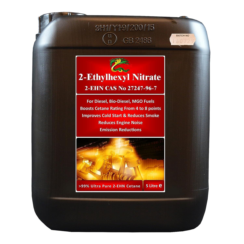 Hydra Fuel 2 EHN Ultra Pure >99% 2 Ethylhexyl Nitrate Treats 5, 000L+ Cetane Enhancer 5L Hydra International Ltd