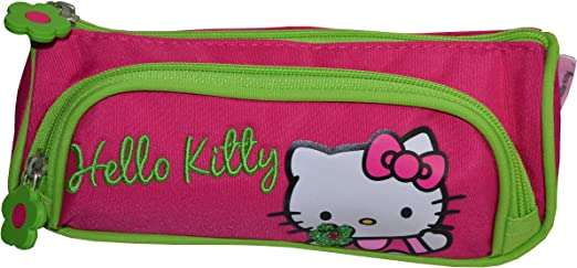 Hello Kitty - Estuche de doble compartimento (bolsa escolar o neceser para cosmética): Amazon.es: Oficina y papelería