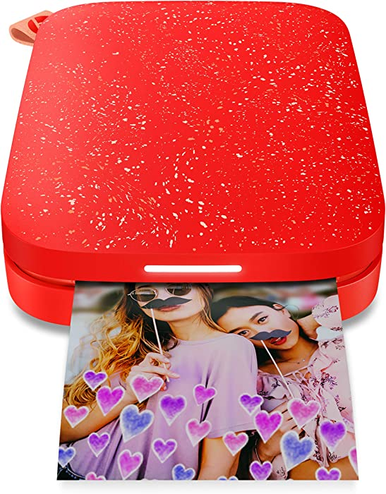 "HP Sprocket 200 Portable Photo Printer | Instantly Print 2x3"" Sticky-Backed Photos From Your Phone 