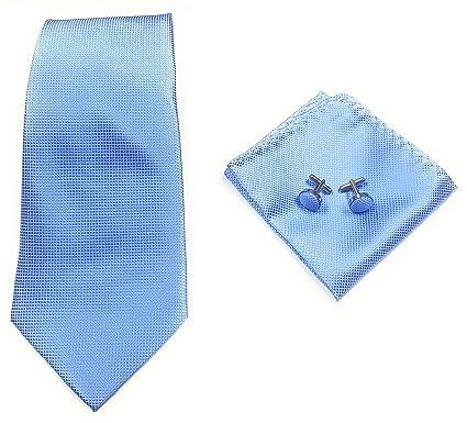 Juego de corbatas para hombre, corbata, gemelos y bolsillo ...