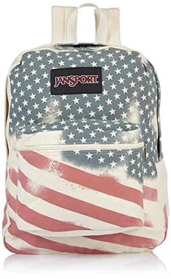"JanSport Super FX Backpack - White/Faded Stars / 16.7""H x 13""W x 8.5""D"
