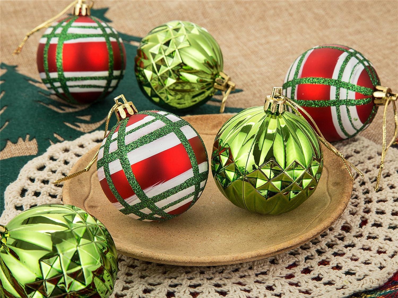 Amazon.com: SANNO Christmas Balls Ornaments Glitter Ball ...