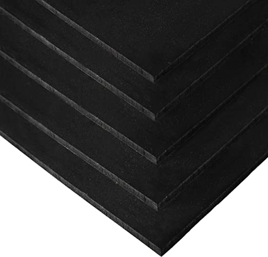 IncStores 4 x 6 Premium 3//8in x 4ft x 6ft Rubber Gym Flooring Mats Includes 5 Mats and 1 EZ Grip Mat Mover Black