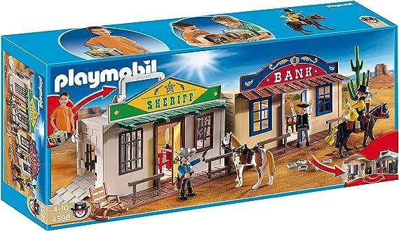 PLAYMOBIL - Ciudad del Oeste, Forma de maletín, Set de Juego (4398): Amazon.es: Juguetes y juegos