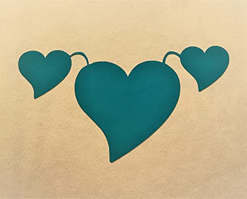 Amazon Com Ovarian Cancer Teal Hearts Survivors Surviving And Supporting Teal Vinyl Decal Handmade