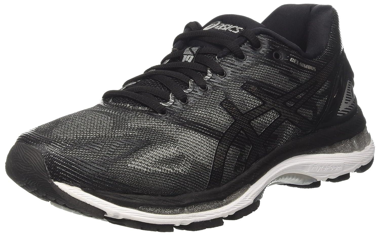Asics Gel Nimbus 19, Zapatillas de Running para Hombre 40 EU Negro (Black/Onyx/Silver)