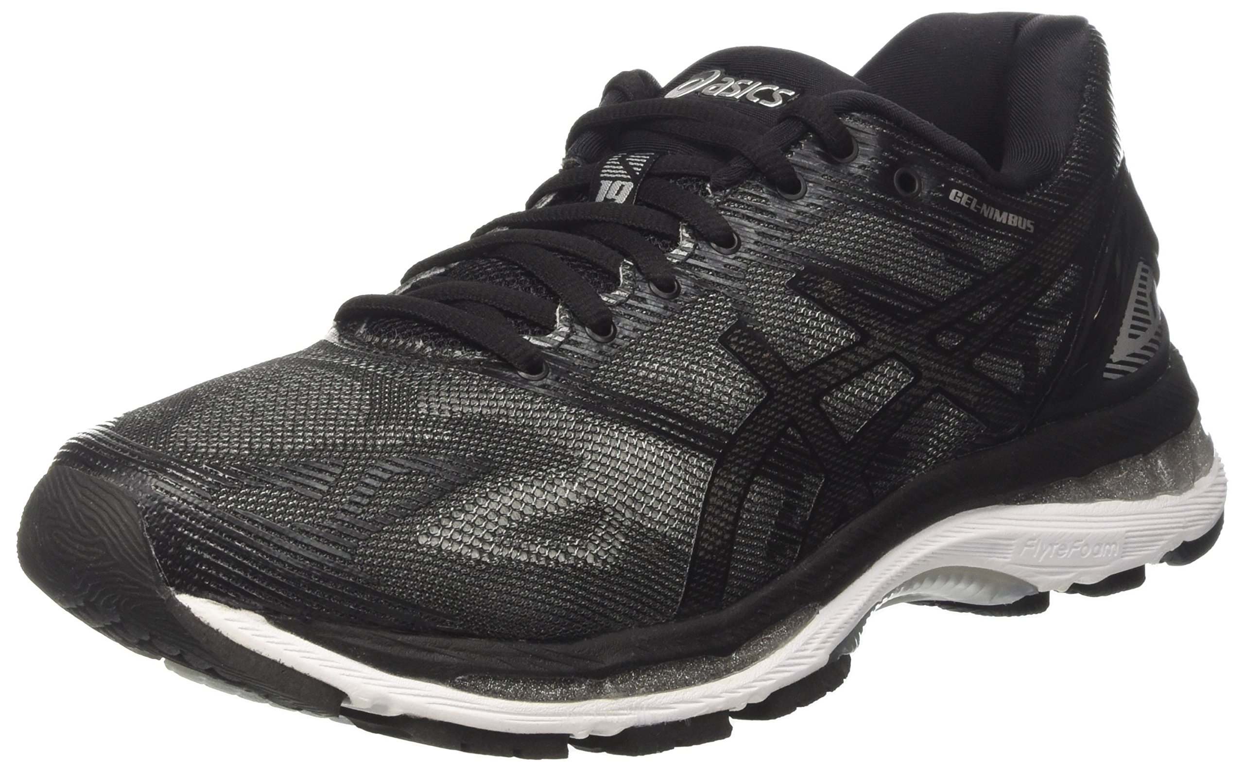 online store b415e 9ade9 ASICS Gel-Nimbus 19 Mens Running Trainers T700N Sneakers Shoes (UK 7 US 8  EU 41.5, Black Onyx Silver 9099)
