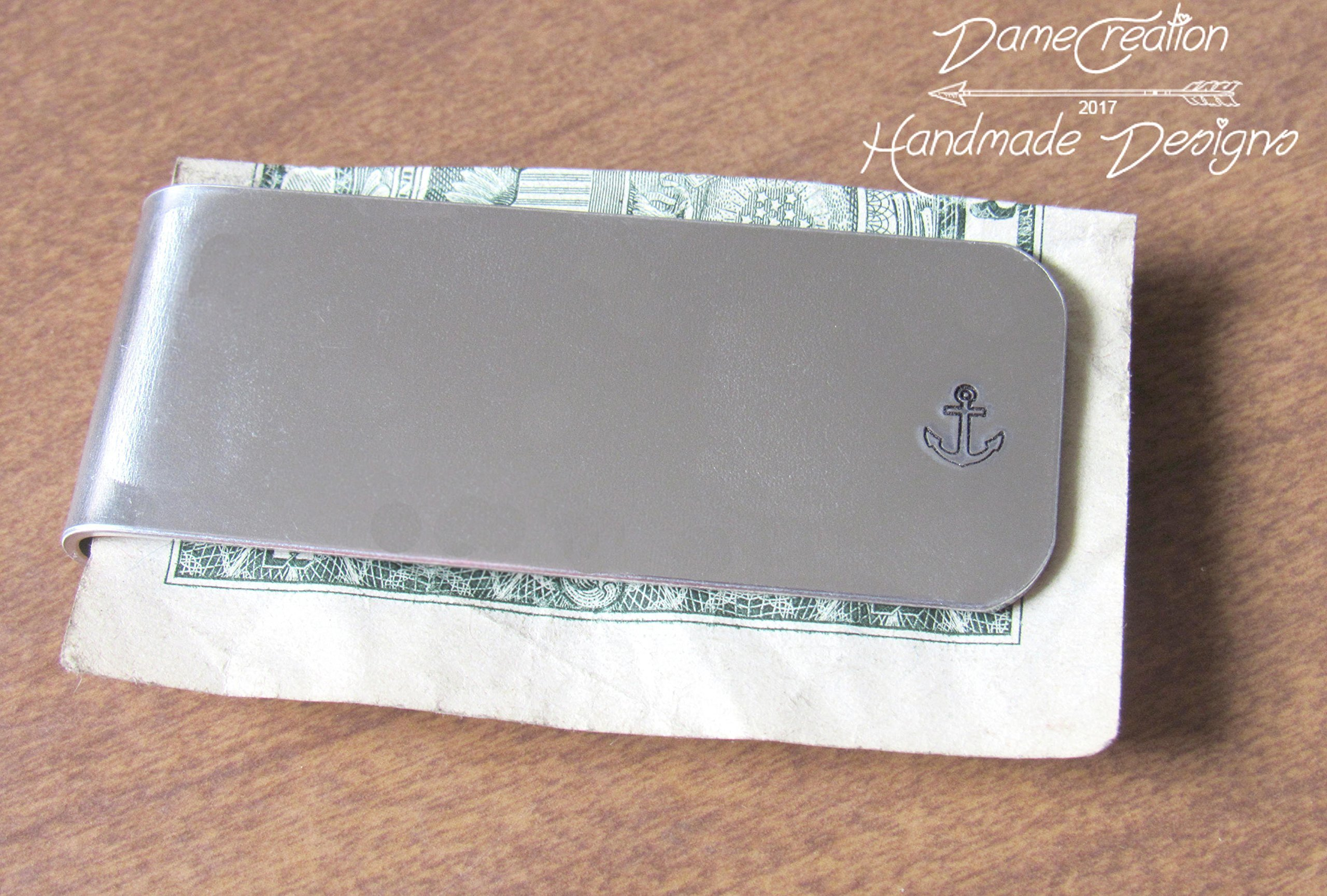 Anchor Money Clip, Silver Money Clip, Groomsman Gifts, Fathers Day Gifts