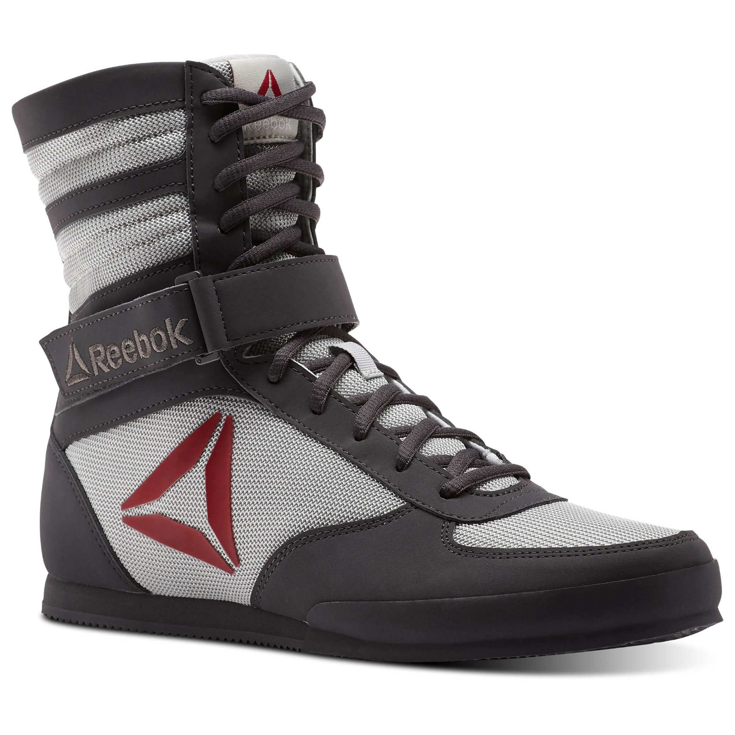 Reebok Men's Boxing Boot-Buck Cross Trainer, Buck-Ash Grey/Skull Grey/Excellent Rd/White/GRE, 7 M US