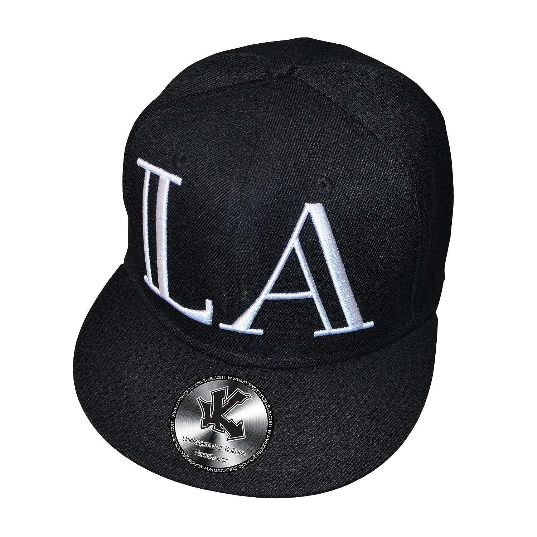 La Los Angeles Lamar Negro Ajustable Snapback Gorra de béisbol ...
