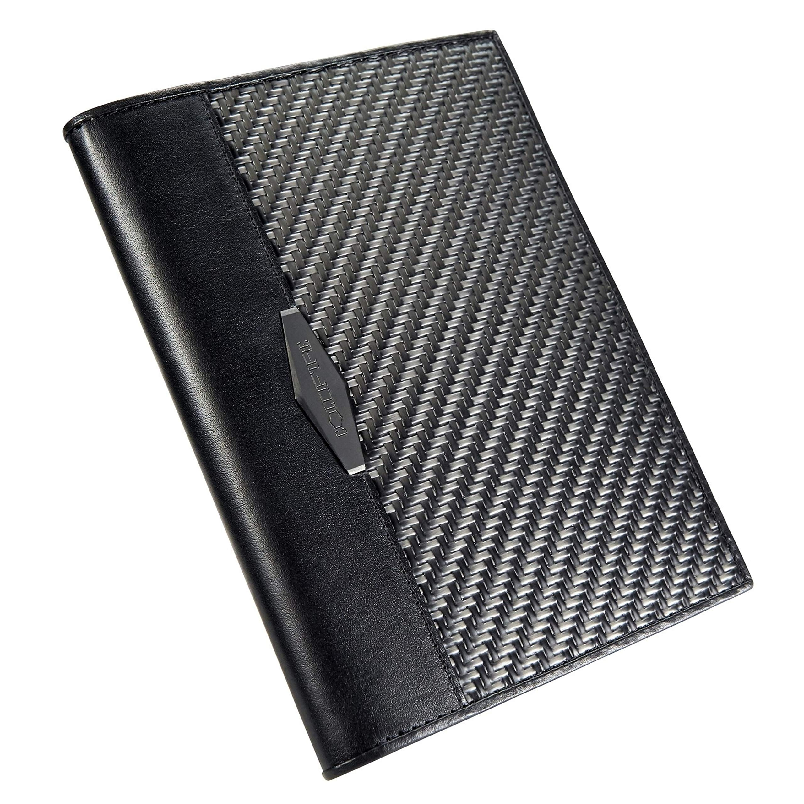 COLDFIRE Travel Wallet Passport Holder, Document Organizer case, Handcrafted from CX6 Carbon Fiber and Genuine Kangaroo leather, RFID blocking, Made in Europe!