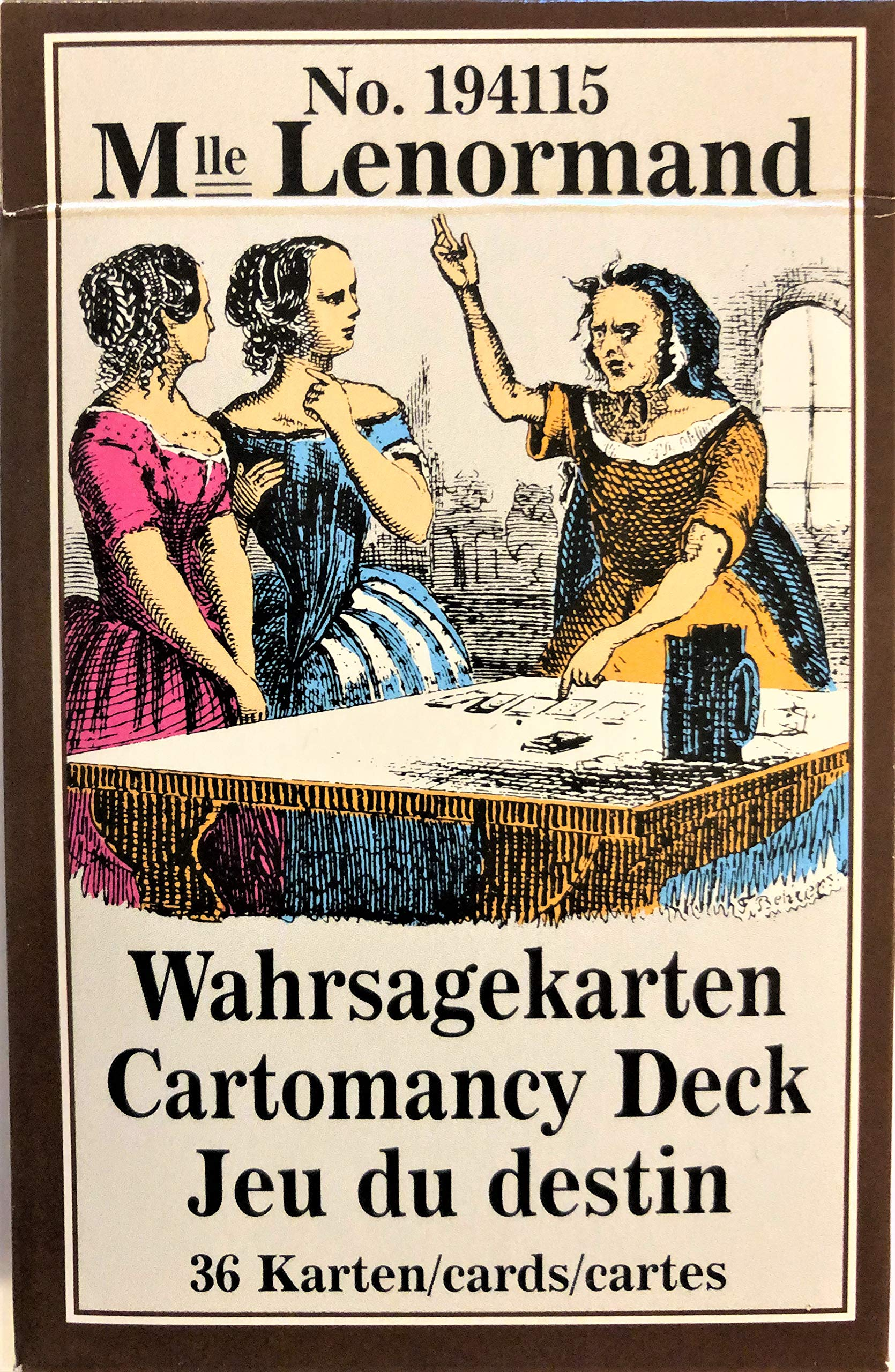 Lenormand Wahrsagekarten (French) Cards