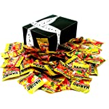 Haribo Gold Bear Minis Snack Sized Packets, 16 oz Bag in a BlackTie Box