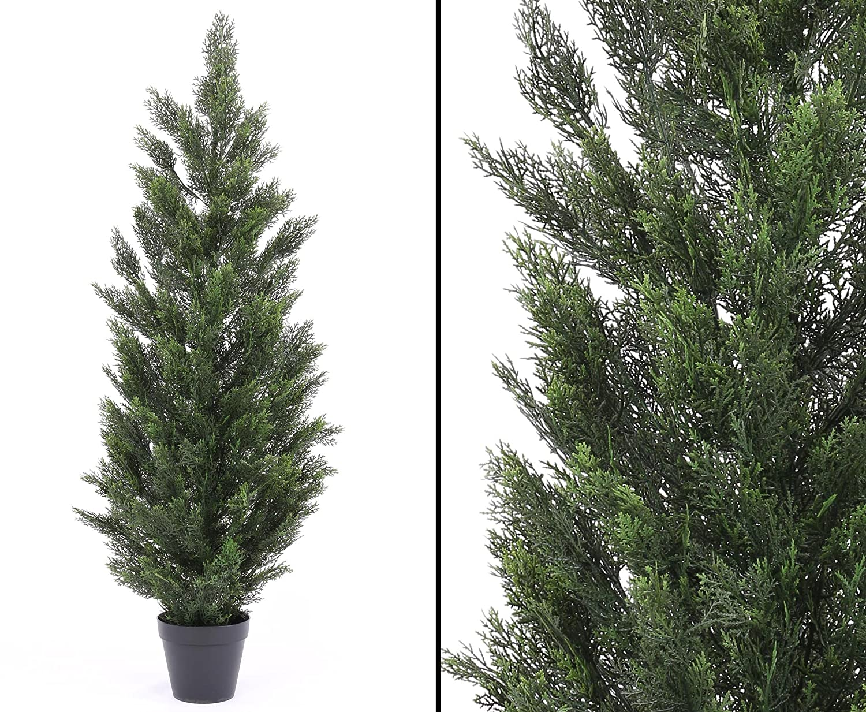 Kunstpflanzen Discount amazon de künstliche zypresse wetterfest für den außenbereich 150cm