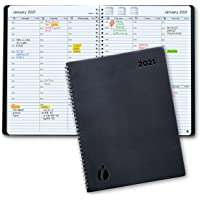2021 Weekly Planner and Monthly Planner – Hourly Appointment Book 2021 – Softcover, Twin-Wire Binding – Simple Design…