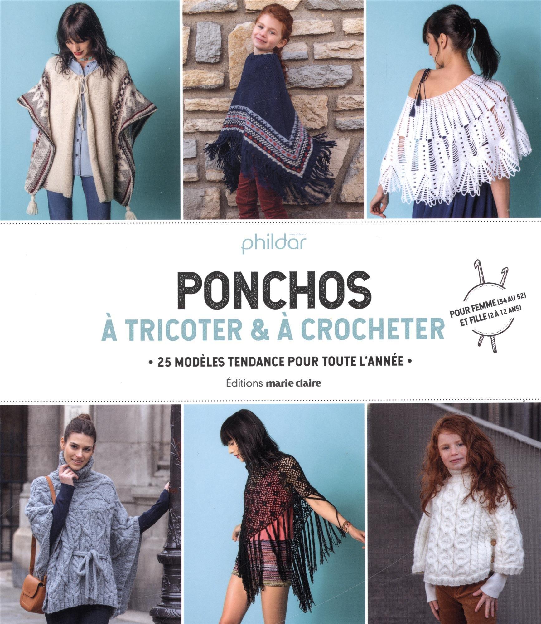 Ponchos à Tricoter à Crocheter 25 Modèles Tendance Pour