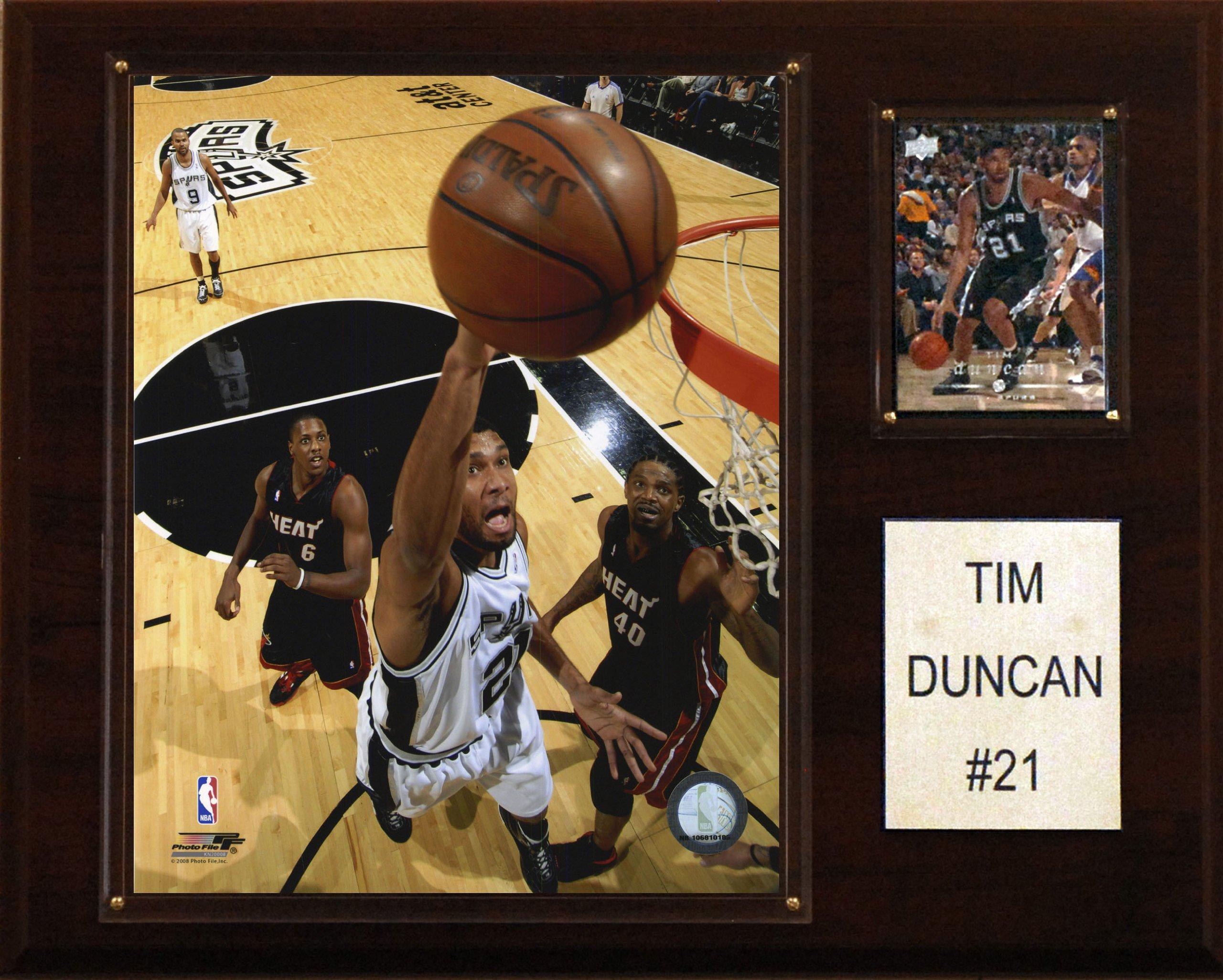 NBA Tim Duncan San Antonio Spurs Player Plaque by C&I Collectables