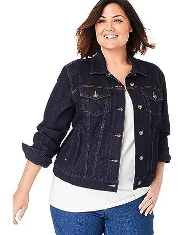 b32fcd1ba694 Woman Within Women's Plus Size Stretch Denim Jacket