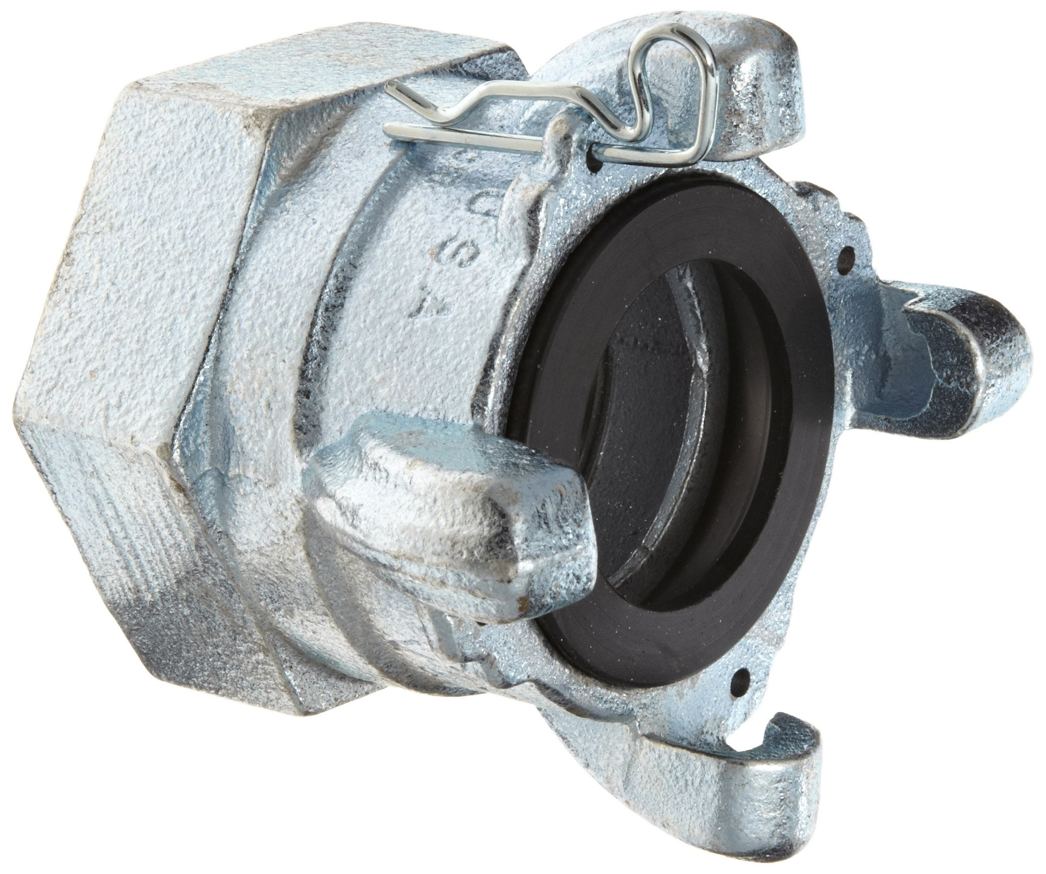 Dixon Air King AM28 Iron Air Hose Fitting, 4 Lug Quick Acting Coupling, 2'' NPT Female End by Dixon