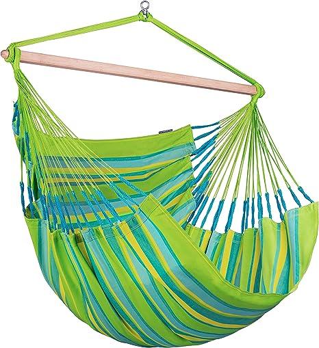 Amazon Com La Siesta Domingo Lime Weather Resistant Outdoor Kingsize Hanging Chair Garden Outdoor