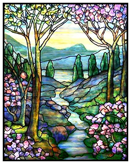 Louis Comfort Tiffany.Amazon Com Orenco Originals Mountain Stream Flowers