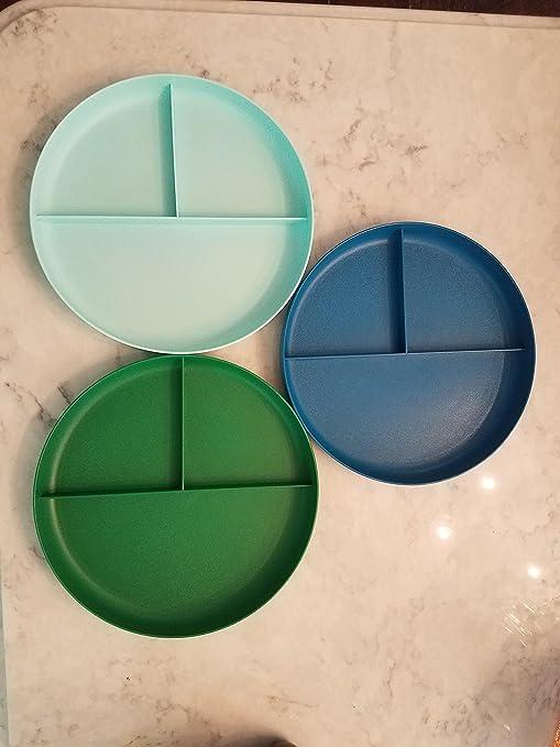 Platos de plástico con divisiones para niños pequeños, 3 unidades ...