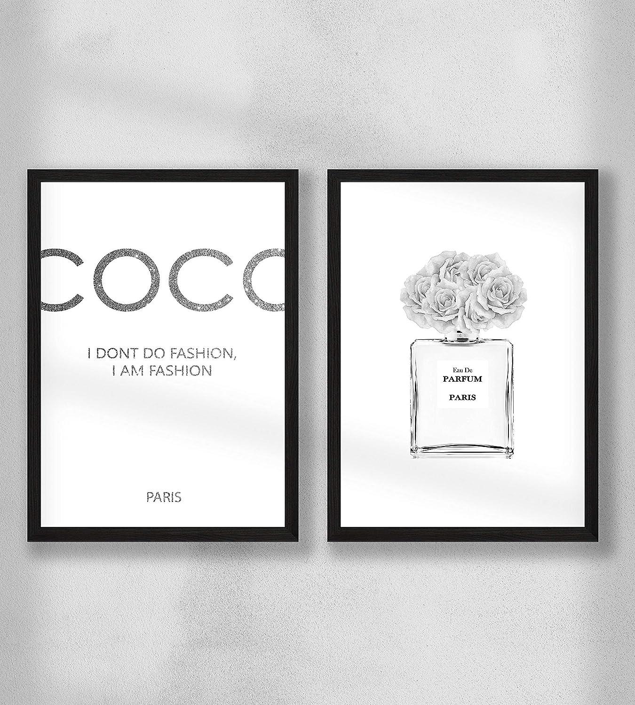 Wanddeko Wandbilder Premium Fotopapier Matt Coco 2er Fashion Poster Set DIN A4