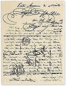 Stampendous Wood Handle Rubber Stamp, Vintage Letter