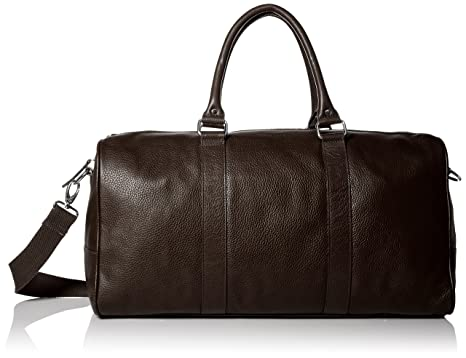 cole haan menu0027s pebble leather duffle chocolate one size