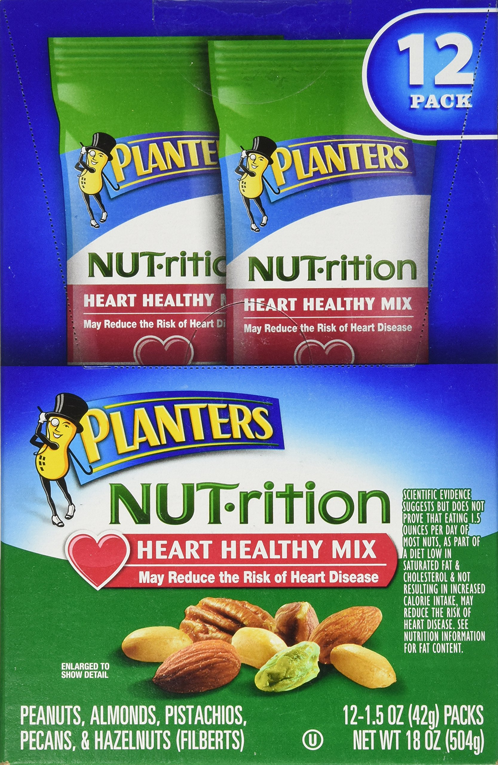SCS Planters NUT-rition Heart Healthy Mix - 1.5 oz. bags - 12 ct. by Planters