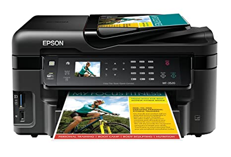 Amazon.com: Epson WorkForce WF-3520, impresora de chorro de ...