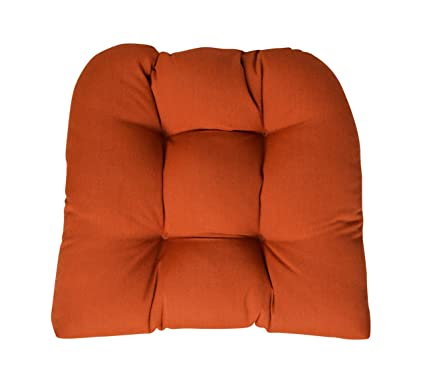 Amazon.com: Sunbrella lona óxido cojín de silla de mimbre ...