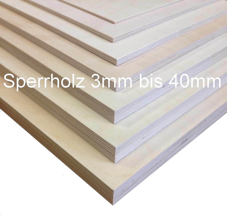 80x10 cm 3mm Sperrholz-Platten Zuschnitt L/änge bis 150cm Birke Multiplex-Platten Zuschnitte Auswahl