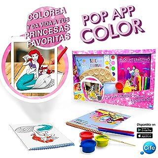 Disney Principesse Quaderno di attività per colorare con animación 3D, Multicolore (CIFE 41396)